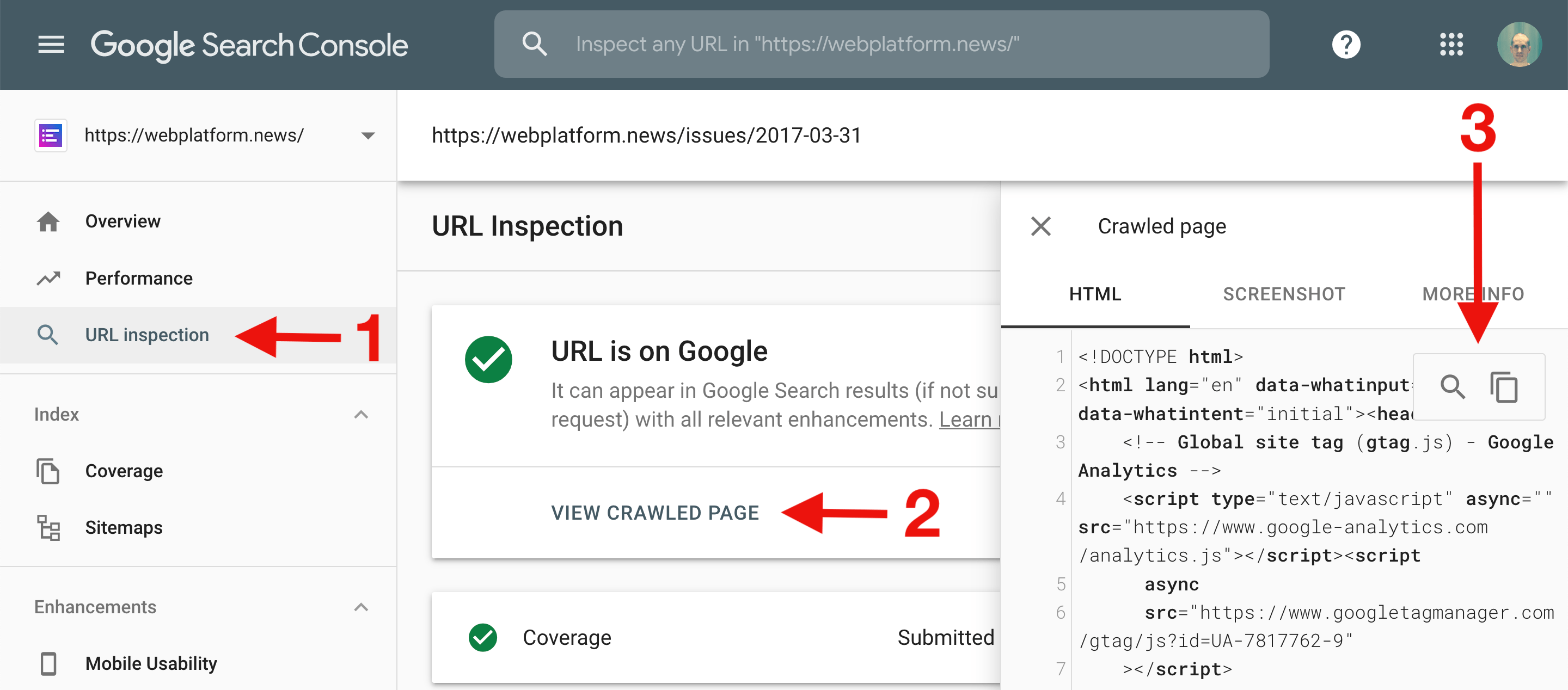 Weekly Platform News: HTML Inspection in Search Console, Global Scope of Scripts, Babel env Adds defaults Query