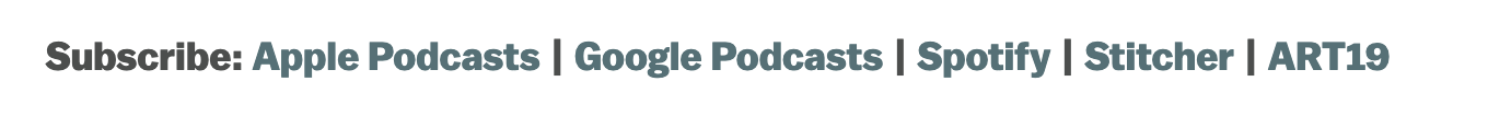 """Where should """"Subscribe to Podcast"""" link to?"""
