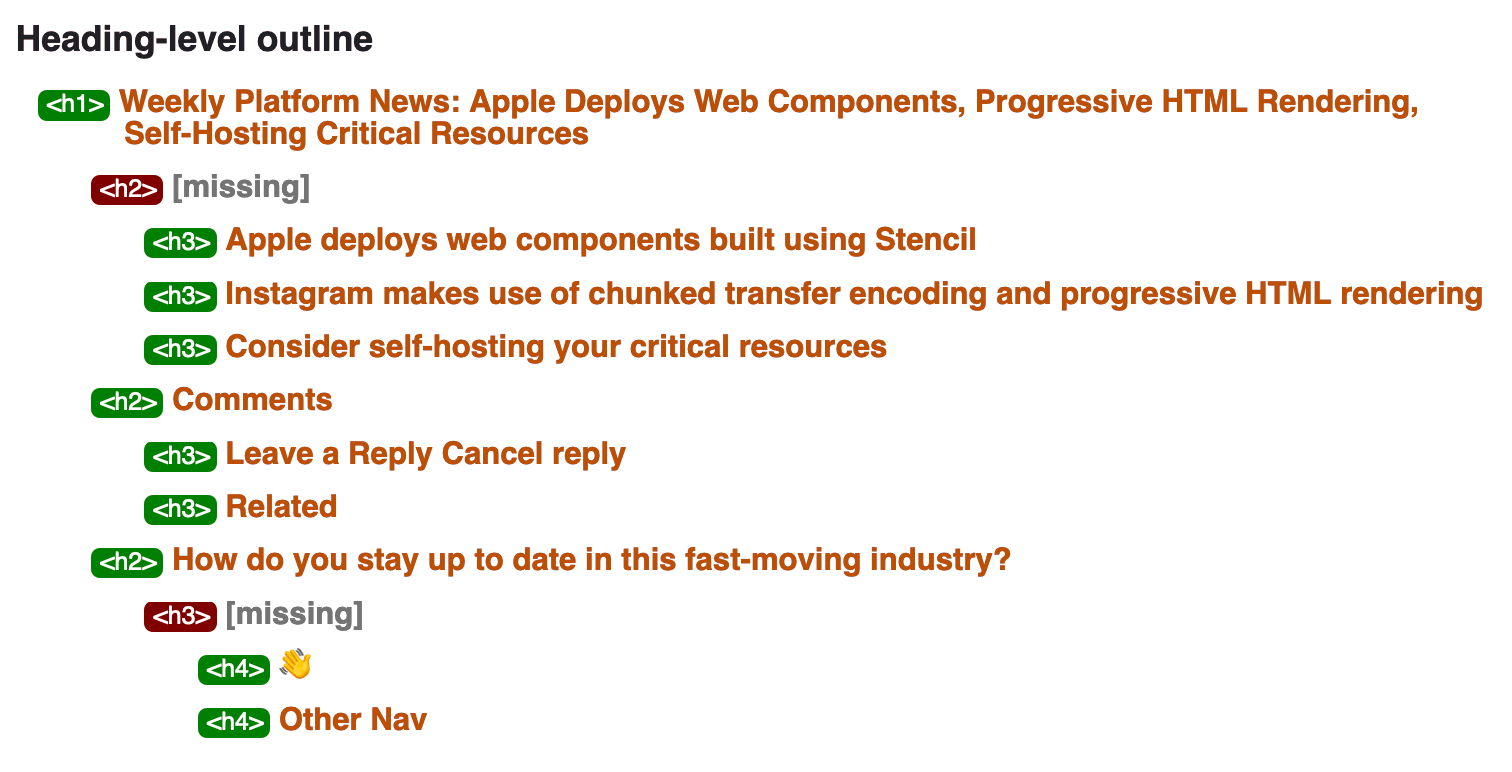 Weekly Platform News: Tracking via Web Storage, First Input Delay, Navigating by Headings