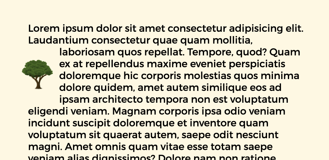 Float Element in the Middle of a Paragraph