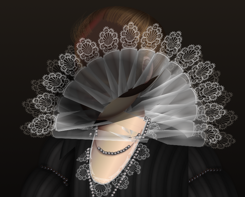 "Diana Smith's Pure CSS Artwork ""Lace"""