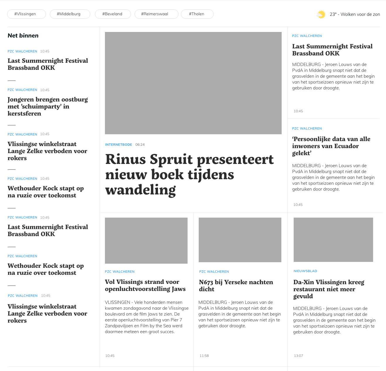 Techniques for a Newspaper Layout with CSS Grid and Border Lines Between Elements