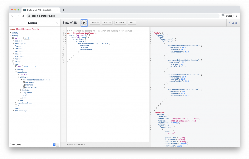 Practice GraphQL Queries With the State of JavaScript API 1