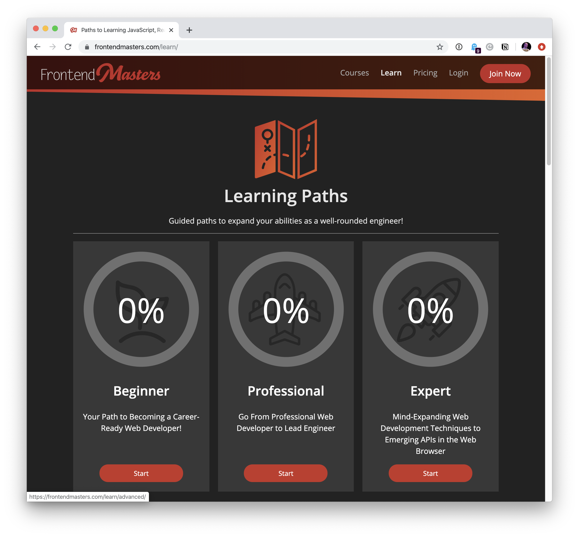 Our Learning Partner: Frontend Masters 1