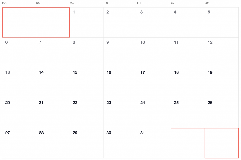 How to Make a Monthly Calendar With Real Data