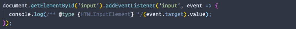 Screenshot of a valid example of type casting in VS Code.
