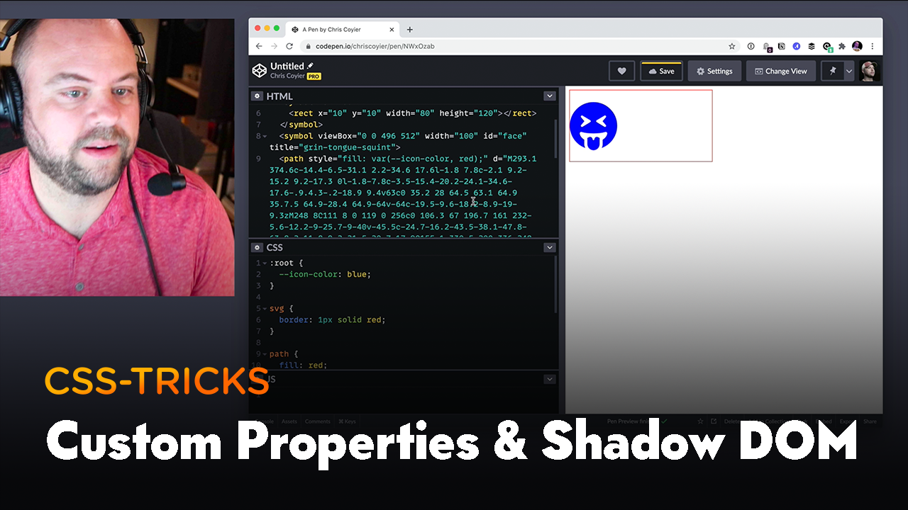 Thumbnail for #190: CSS Custom Properties Penetrate the Shadow DOM