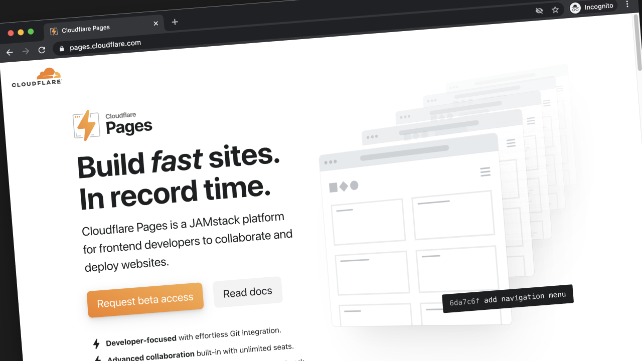 Thumbnail for #203: A First Look at Cloudflare Pages