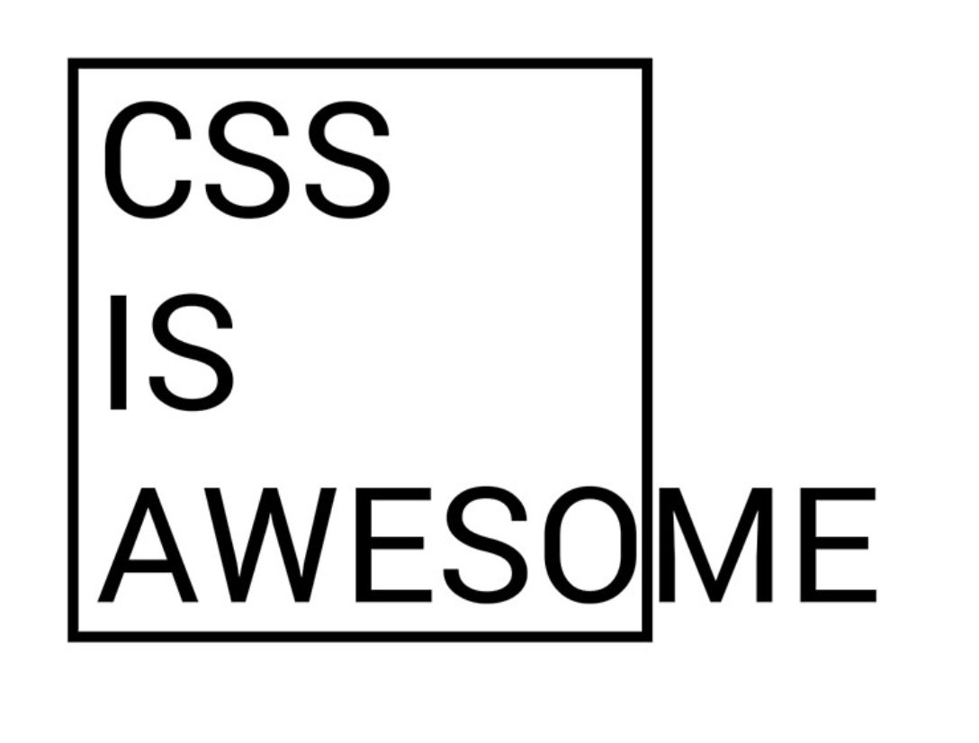 Мем CSS is awesome.