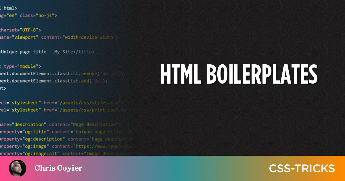 HTML Boilerplates